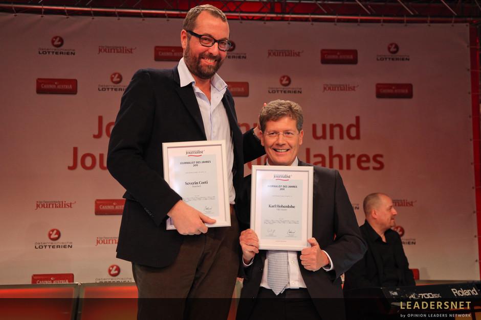Journalisten des Jahres 2011 - Fotos K.Schiffl