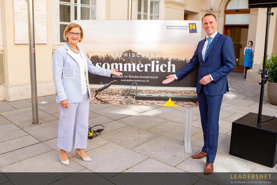 """Pressekonferenz """"Neue Werbelinie der Niederösterreich Werbung zum Sommer in Niederösterreich"""""""
