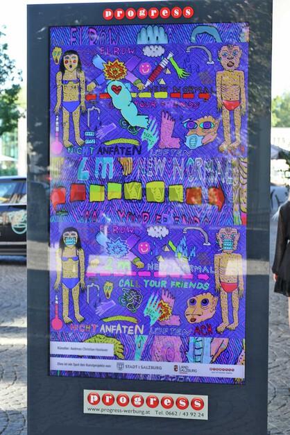 PROGRESS Werbung / Kunstlitfaß-Säulen 2021